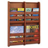 SAF4623CY Bamboo Magazine/Pamphlet Wall Display, 19-1/2w x 1-3/4d x 25-1/2h, Cherry SAF 4623CY
