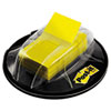 MMM680HVYW Flags in Desk Grip Dispenser, 1 x 1 3/4, Yellow, 200/Dispenser MMM 680HVYW