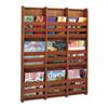 SAF4624CY Bamboo Magazine/Pamphlet Wall Display, 29w x 1-3/4d x 37-3/4h, Cherry SAF 4624CY