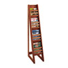 SAF4622CY Bamboo Magazine/Pamphlet Floor Display, 10w x 18-1/4d x 56-1/2h, Cherry SAF 4622CY