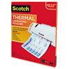 MMMTP3854100 Letter size thermal laminating pouches, 3 mil, 11 1/2 x 9, 100 per pack MMM TP3854100