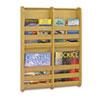 SAF4623NA Bamboo Magazine/Pamphlet Wall Display, 19-1/2w x 1-3/4d x 25-1/2h, Natural SAF 4623NA