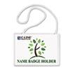 CLI97043 Biodegradable Name Badge Holder Kit, 4 x 3, Clear, 50/Box CLI 97043