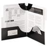 SMD87963 SuperTab Two-Pocket Folders, Letter Size, Black, 5/Pack SMD 87963