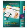 AVE11405 Index Maker Dividers, Multicolor 12-Tab, Letter, 5 Sets/Pack AVE 11405