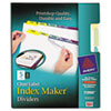 AVE11990 Index Maker Clear Label Contemporary Color Dividers, 5-Tab, 5 Sets/Pack AVE 11990
