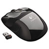 LOG910002696 M525 Wireless Mouse, Compact, Right/Left, Black LOG 910002696