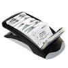 DBL241301 VISIFIX Desk Business Card File Holds 200 4 1/8 x 2 7/8 Cards, Graphite/Black DBL 241301