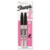 SAN1801743 Pink Ribbon Bullet Tip Permanent Marker, Black, 2/Pack SAN 1801743