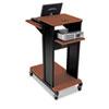 BLT27577 Xtra Long Presentation Cart, 4 Shelves, 18-1/2w x 30d x 40-3/4h, Cherry/Black BLT 27577