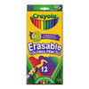 CYO684412 Erasable Colored Woodcase Pencils, 3.3 mm, 12 Assorted Colors/Set CYO 684412