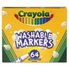 CYO588764 Pip-Squeaks Skinnies Washable Markers, 64 Colors, 64/Set CYO 588764