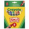 CYO520389 So Big Crayons, Large Size, 5 x 9/16, 8 Assorted Color Box CYO 520389