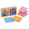 MMMR3306SSAN Pop-Up Refill, 3 x 3, 4 Electric Glow Colors, 6 90-Sheet Pads/Pack MMM R3306SSAN