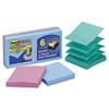 MMMR3306SST Super Sticky Pop-Up Notes, 3 x 3, Tropic Breeze, 6 90-Sheet Pads/Pack MMM R3306SST