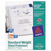 AVE75536 Top-Load Polypropylene Sheet Protectors, Letter, Semi-Clear, 100/Box AVE 75536