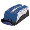 ROL66998 VIP Open Tray Card File with 24 A-Z Guides Holds 500 2 1/4 x 4 Cards, Black ROL 66998