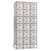 SAF5527GR Three-Column Box Locker, 36w x 18d x 78h, Two-Tone Gray SAF 5527GR