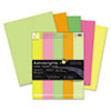 WAU20270 Astrobrights Colored Paper, 24lb, 8-1/2 x 11, Neon Assortment, 500 Sheets/Ream WAU 20270