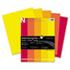 WAU20272 Astrobrights Colored Paper, 24lb, 8-1/2 x 11, Warm Assortment, 500 Sheets/Ream WAU 20272
