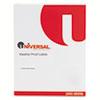 UNV80208 Weatherproof Permanent Adhesive Labels, 1-1/3 x 4, White, 700 Labels/Pack UNV 80208