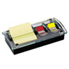 MMMDS100 Note and Flag Dispenser, 3 x 3 Canary Notes and Assorted Flags, Black Dispenser MMM DS100