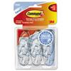 MMM17091CLRVP Clear Hooks & Strips, Plastic, Medium, 6 Hooks w/ 12 Adhesive Strips per Pack MMM 17091CLRVP