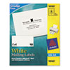 AVE18163 Shipping Labels, 2 x 4, White, 100/Pack AVE 18163