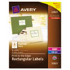 AVE22823 Rectangle Easy Peel Labels, 3 x 3-3/4, Pearl, 48/Pack AVE 22823