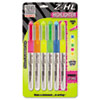 ZEB77005 Z-HL Three-Chamber Liquid Highlighter, Chisel Tip, Asst Colors, 5&1 Yellow Free ZEB 77005