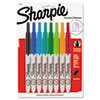 SAN1742025 Retractable Ultra Fine Tip Permanent Marker, Assorted Colors, 8/Set SAN 1742025