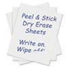CLI57724 Peel and Stick Dry Erase Sheets, 17 x 24, White, 15 Sheets/Box CLI 57724