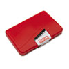 AVE21071 Felt Stamp Pad, 4 1/4 x 2 3/4, Red AVE 21071