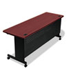 BLT89960 Agility Series Rectangular Table, 72w x 24d x 29-1/2h, Mahogany/Black BLT 89960