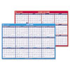 AAGPM200S28 Horizontal Erasable Wall Planner, Yearly/Academic Calendars, 36