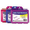 CLI48750 Spiral Bound Index Card Notebook, with Tabbed Dividers, 3x5, Assorted, 60/PK CLI 48750