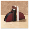 ROL19350 Bookends, Nonskid, 10 x 4 1/2 x 6 1/8, Solid Wood, Mahogany ROL 19350