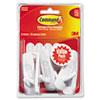 MMM17001VP6PK General Purpose Hooks Value Pack, Medium, Holds 3-lb, White, 6/Pack MMM 17001VP6PK