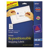 AVE58164 Re-hesive Inkjet Labels, 3 1/3 x 4, White, 150/Pack AVE 58164