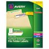 AVE5266 Permanent Adhesive Laser/Inkjet File Folder Labels, Assorted, 750/Pack AVE 5266