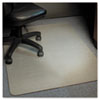 ESR119337 Stainless 36x48 Rectangle Chair Mat, Design Series for Carpet up to 3/4