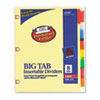 AVE23284 WorkSaver Big Tab Dividers w/CPR Holes, Eight Multicolor Tabs, Letter, Buff AVE 23284