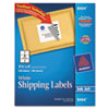 AVE8464 Shipping Labels with TrueBlock Technology, 3-1/3 x 4, White, 600/Box AVE 8464