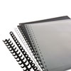 SWI26003 ZipBind Prepunched Cover Set, 8-1/2 x 11, Clear/Black; 10 Sets/Pack SWI 26003