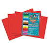 RLP68802 Heavyweight Construction Paper, 58 lbs., 12 x 18, Holiday Red, 50 Sheets/Pack RLP 68802