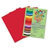 RLP76602 Premium Sulphite Construction Paper, 76 lbs., 12 x 18, Festive Red, 50/Pack RLP 76602