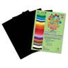 RLP70601 Premium Sulphite Construction Paper, 76 lbs., 9 x 12, Black, 50/Pack RLP 70601