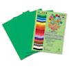RLP74101 Premium Sulphite Construction Paper, 76 lbs., 9 x 12, Holiday Green, 50/Pack RLP 74101