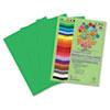 RLP76502 Premium Sulphite Construction Paper, 76 lbs., 12 x 18, Festive Green, 50/Pack RLP 76502