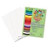 RLP76303 Premium Sulphite Construction Paper, 76 lbs., 18 x 24, Bright White, 50/Pack RLP 76303